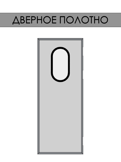 Маятниковые двери REFDOORS - дверное полотно