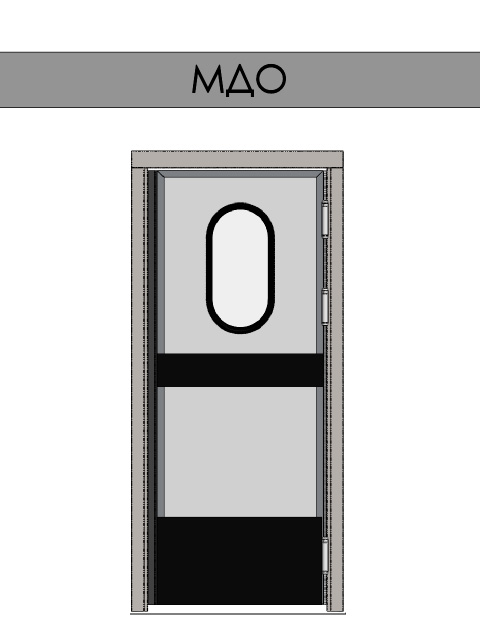 Маятниковые двери REFDOORS - одностворчатые