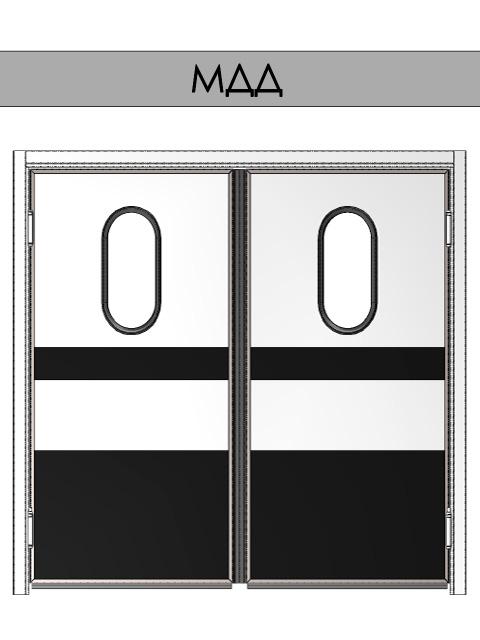 Маятниковые двери REFDOORS - двухстворчатые
