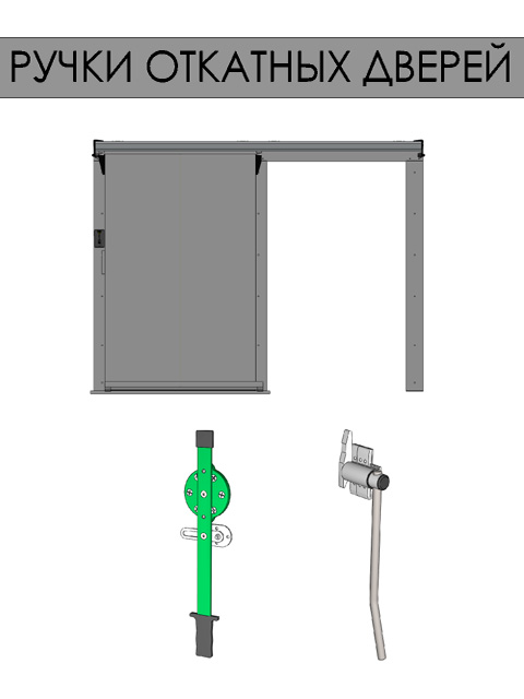 Откатные двери для холодильных камер - ручки откатных дверей (тяжелая серия)