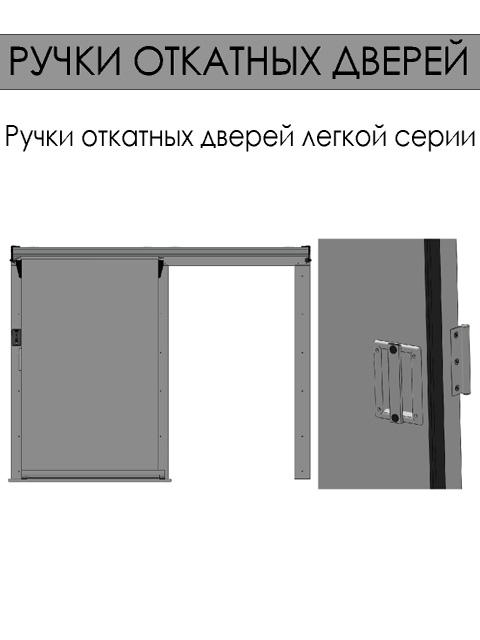 Откатные двери для холодильных камер - ручки откатных дверей (легкая серия)