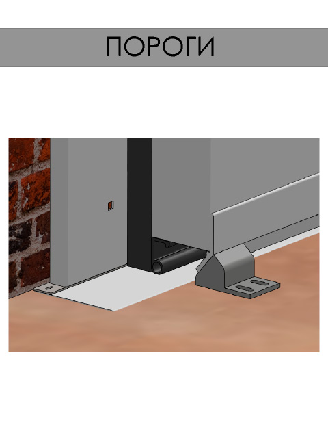 Откатные двери для холодильных камер - пороги