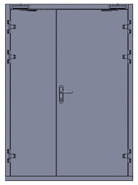 Распашная противопожарная дверь