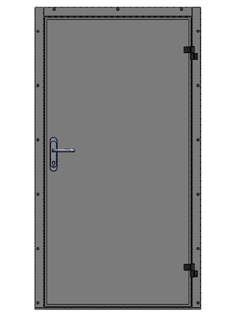 Индустриальные, сервисные и технические двери - одностворчатые