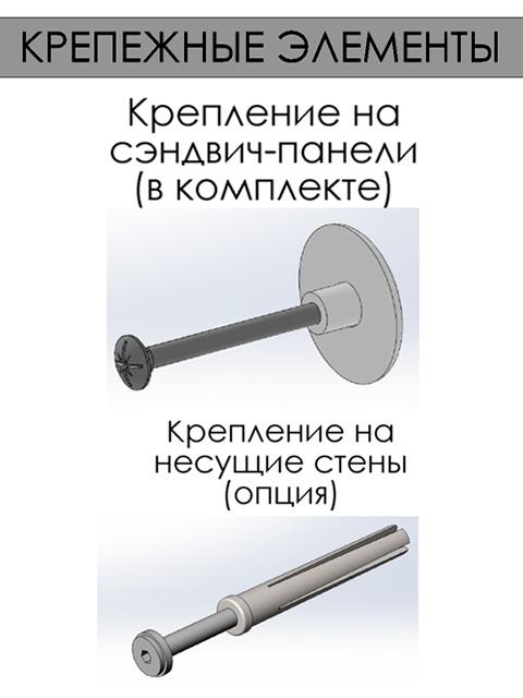 Одностворчатые распашные двери для холодильных и морозильных камер - крепежные элементы