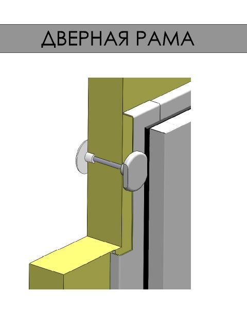Одностворчатые распашные двери для холодильных и морозильных камер - дверная рама