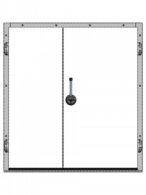 Двустворчатые распашные двери для холодильных камер