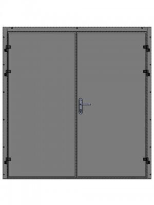 Индустриальные, сервисные и технические двери - двустворчатые